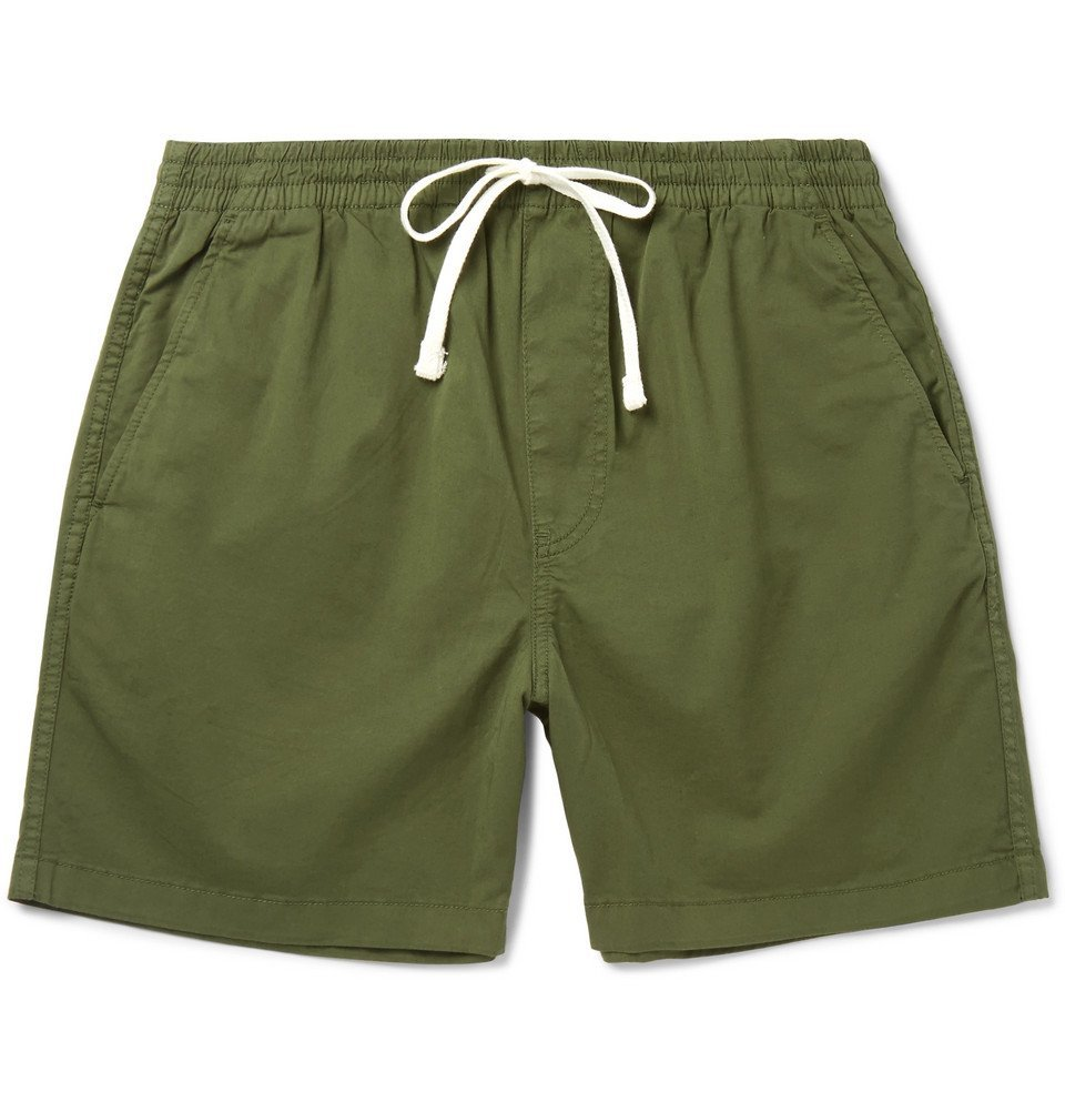 Photo: J.Crew - Stretch-Cotton Twill Drawstring Shorts - Men - Green