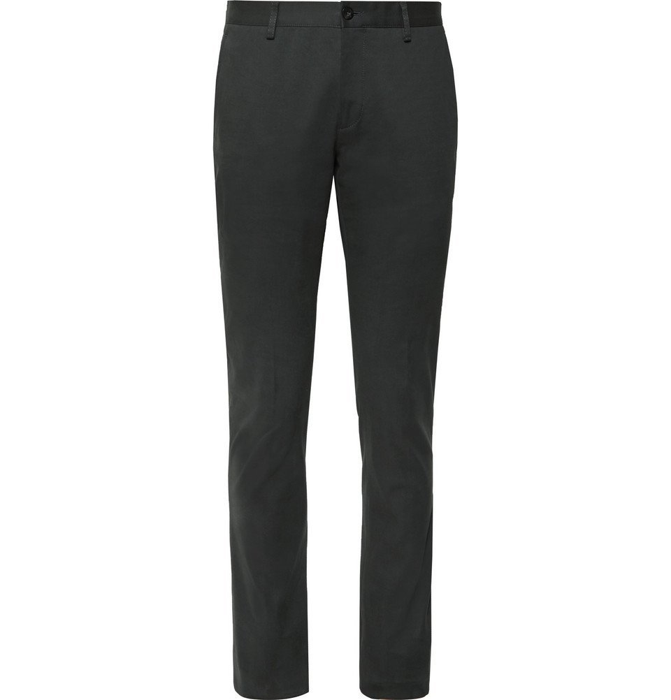 Photo: Etro - Slim-Fit Stretch-Cotton Twill Chinos - Dark green