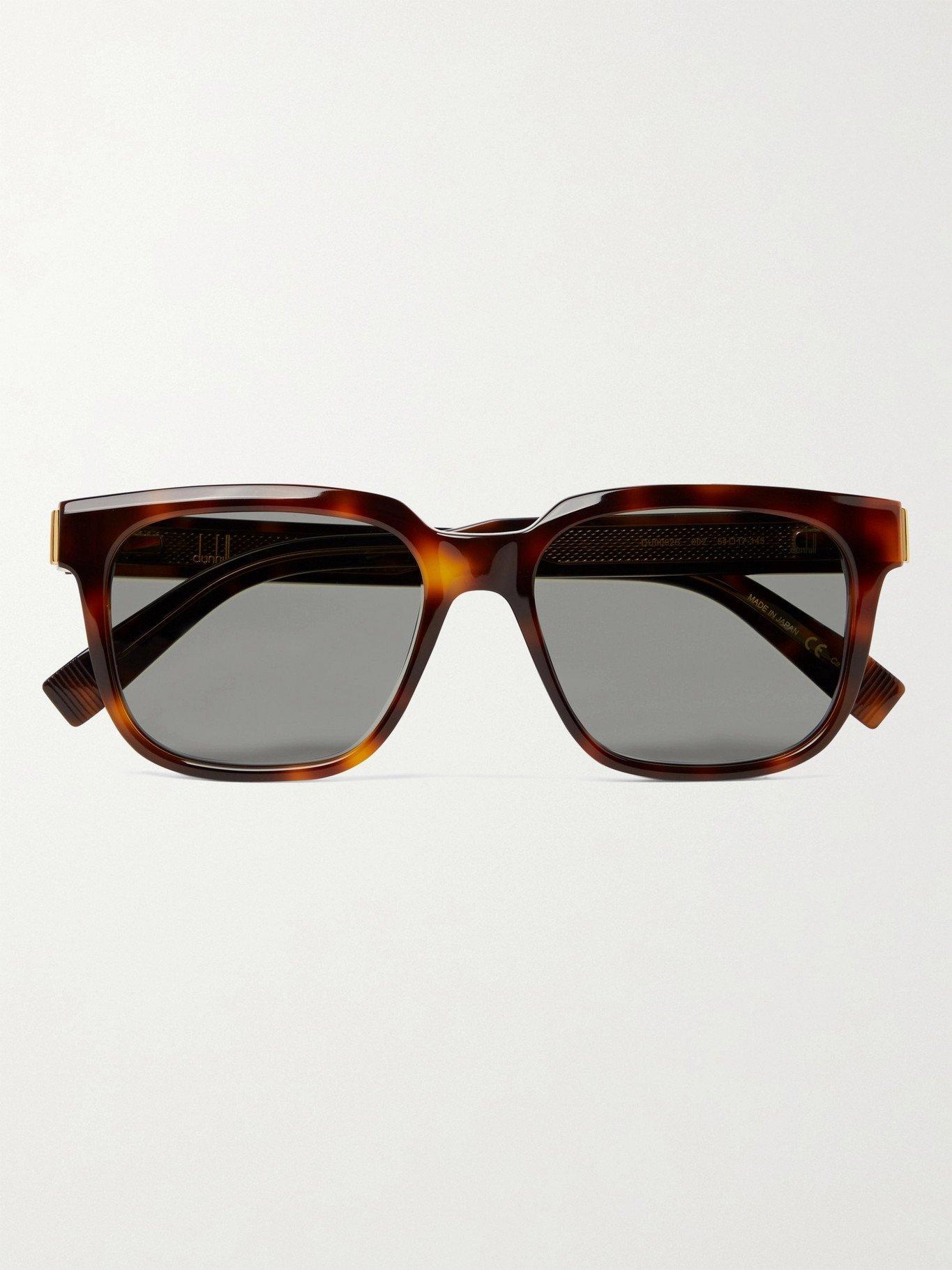 DUNHILL - Square-Frame Tortoiseshell Acetate Sunglasses - Tortoiseshell