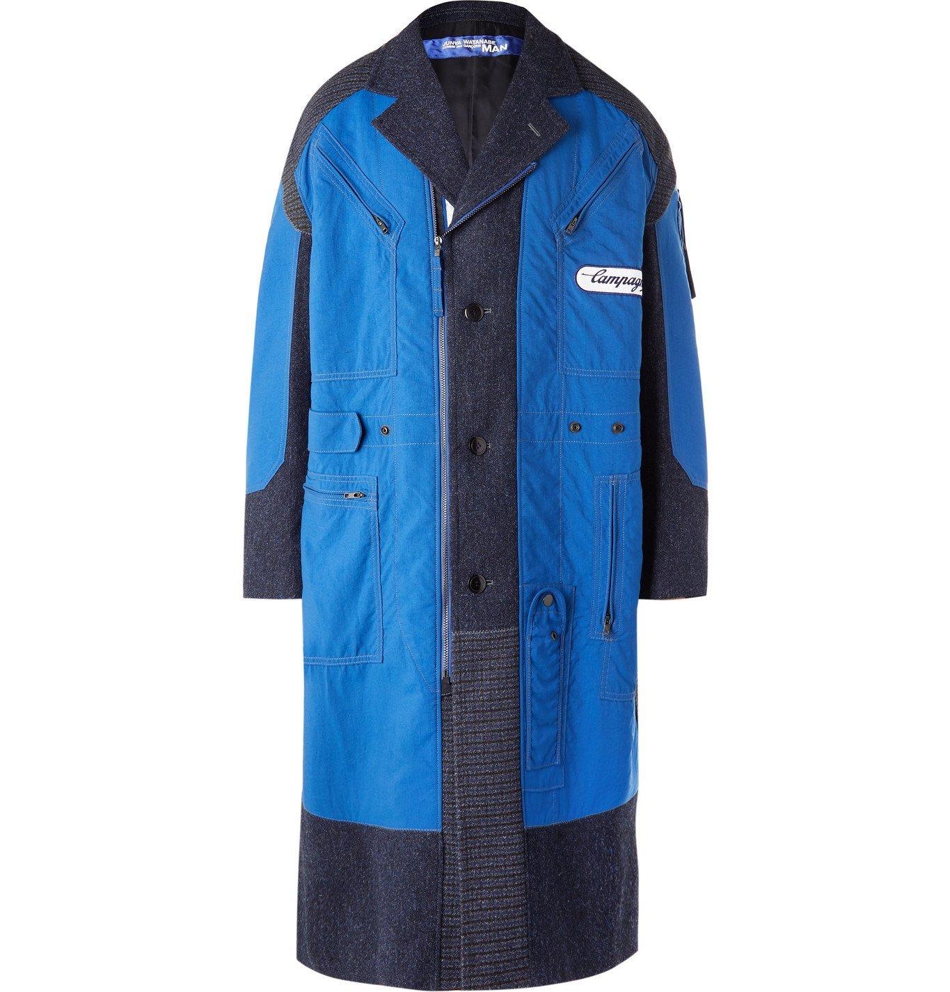 Photo: Junya Watanabe - Carhartt Patchwork Nylon and Wool-Tweed Coat - Brown