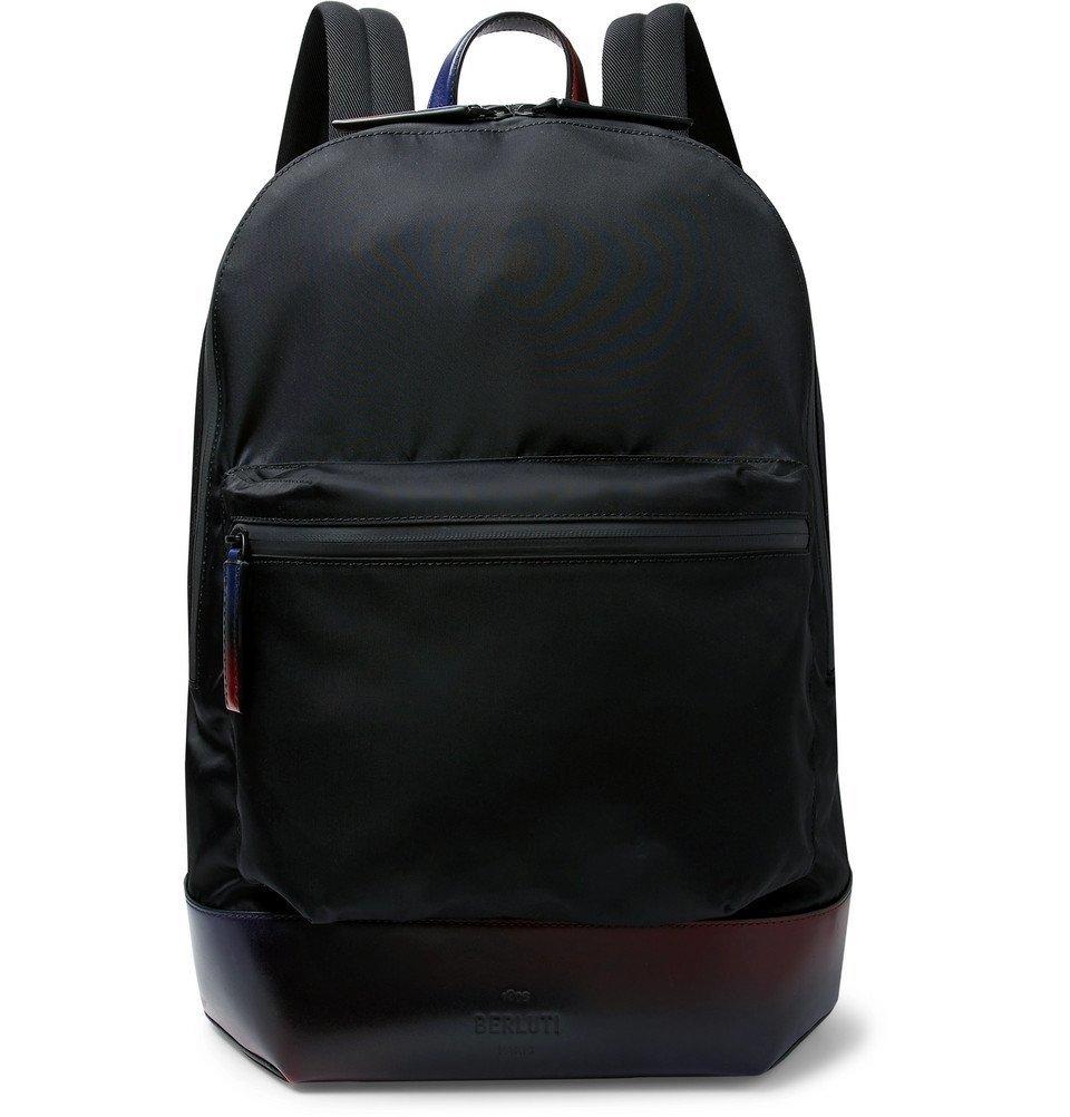 Photo: Berluti - Volume MM Venezia Leather-Trimmed Nylon Backpack - Black