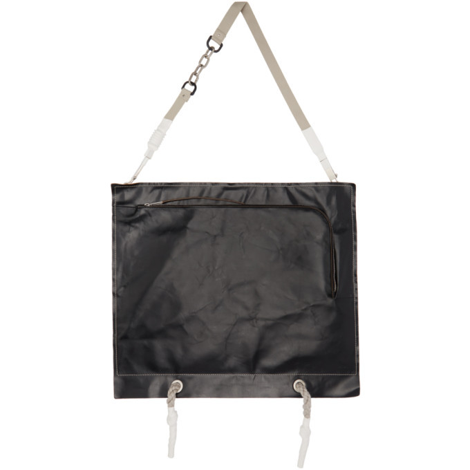 Photo: Rick Owens Black Flat Apron Messenger Bag