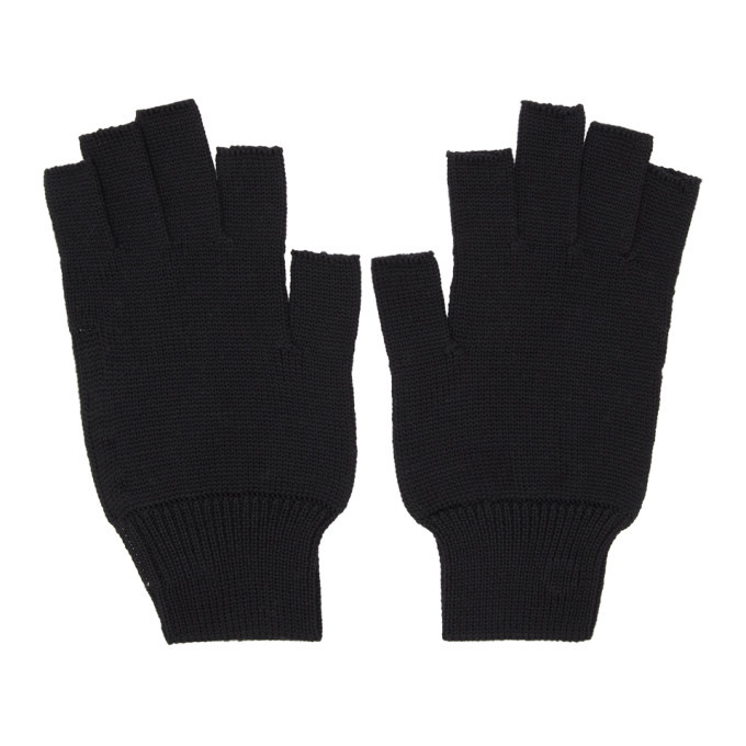 Photo: Rick Owens Black Merinois Fingerless Gloves