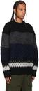 Sacai Black & Grey Knit Paneled Sweater