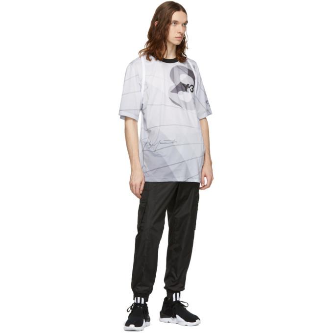 Y-3 White AOP Football T-Shirt