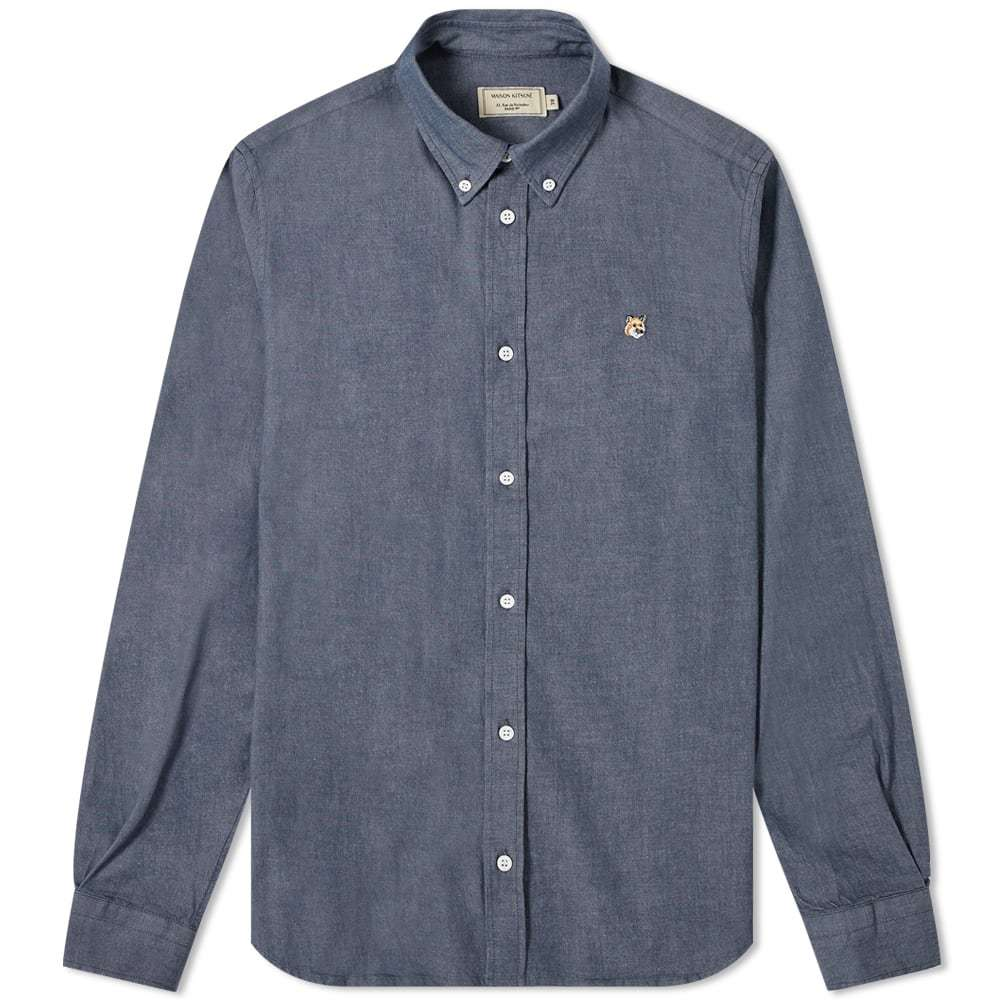 Photo: Maison Kitsuné Button Down Chambray Fox Head Shirt