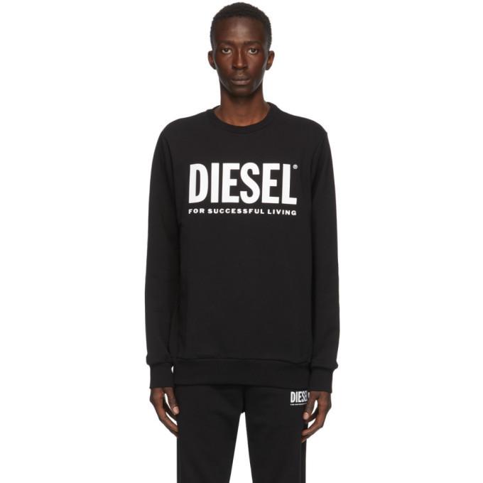 Photo: Diesel Black S-Gir-Division Logo Sweatshirt