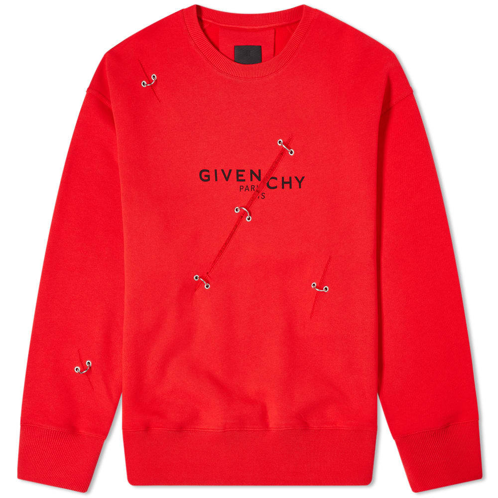 Photo: Givenchy Oversized Trompe LOeil Ring Crew Sweat