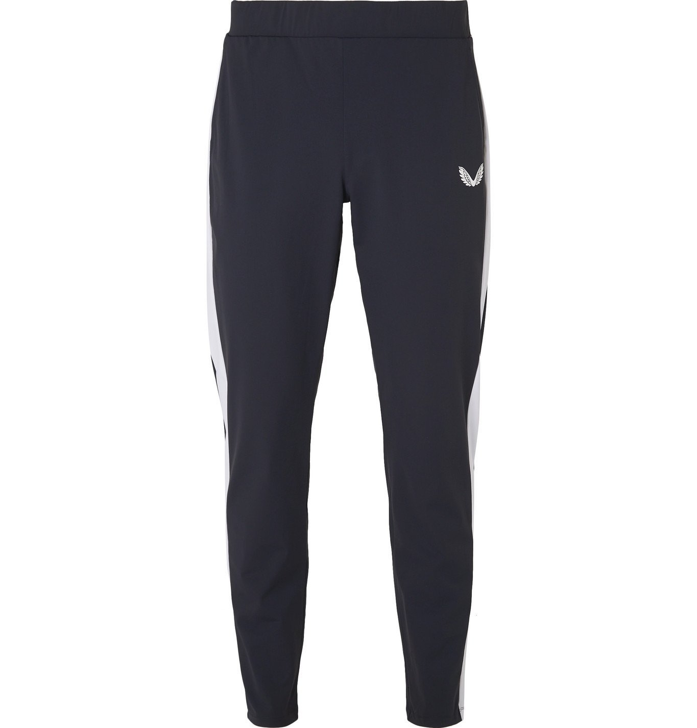 Photo: CASTORE - Stadium Striped Stretch-Jersey Sweatpants - Blue