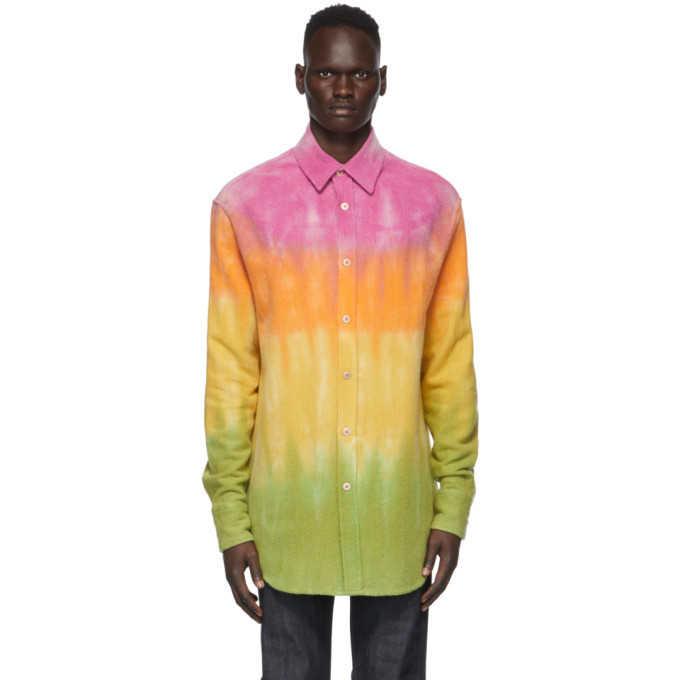 Photo: The Elder Statesman Multicolor Gradient Bloomsland Shirt