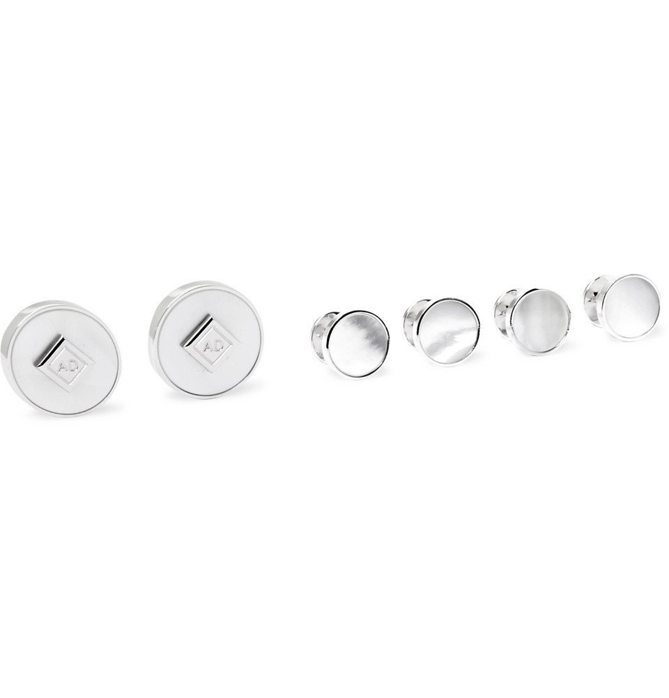 Dunhill - Sterling Silver and Mother-of-Pearl Shirt Studs and Cufflinks Set - Men - Silver