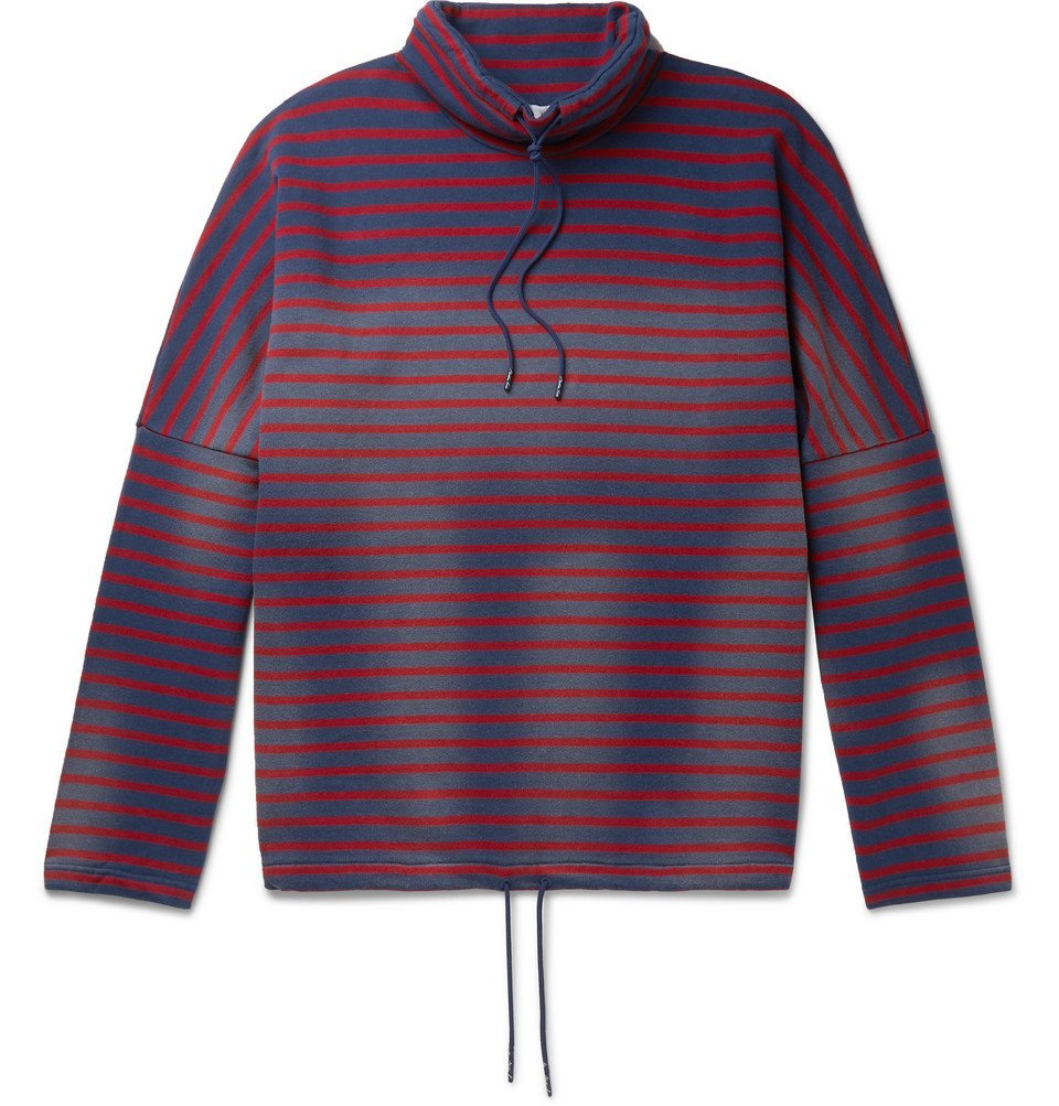 Martine Rose - Striped Loopback Cotton-Jersey Hoodie - Red