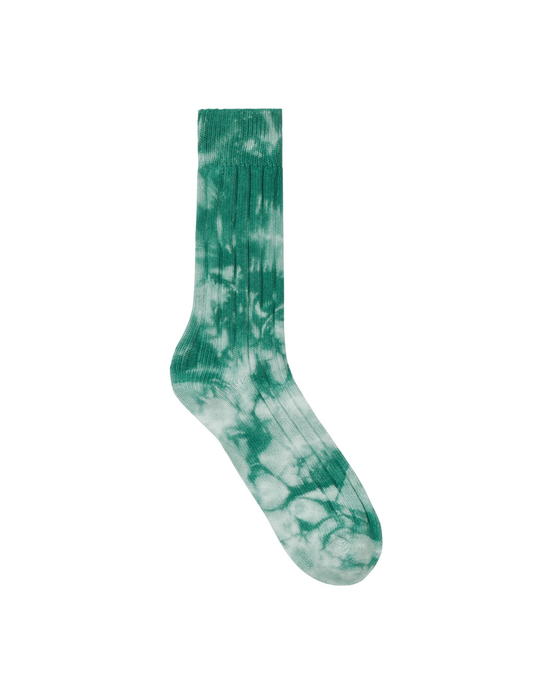 Photo: Stussy Dyed Ribbed Crew Socks Green