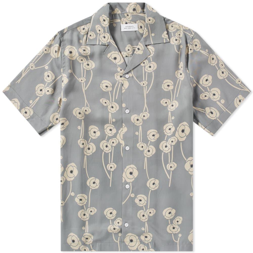 Photo: Saturdays NYC Short Sleeve Canty Poppy Shirt