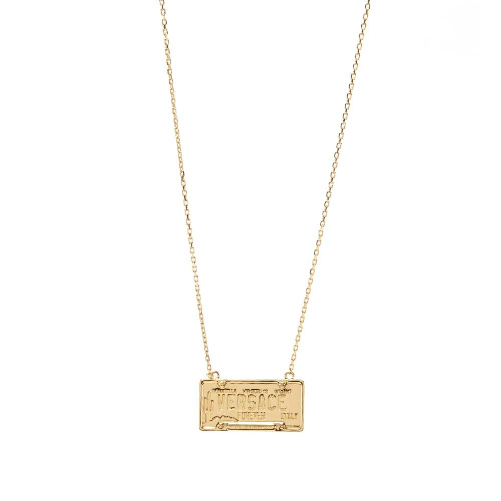 Photo: Versace Number Plate Necklace