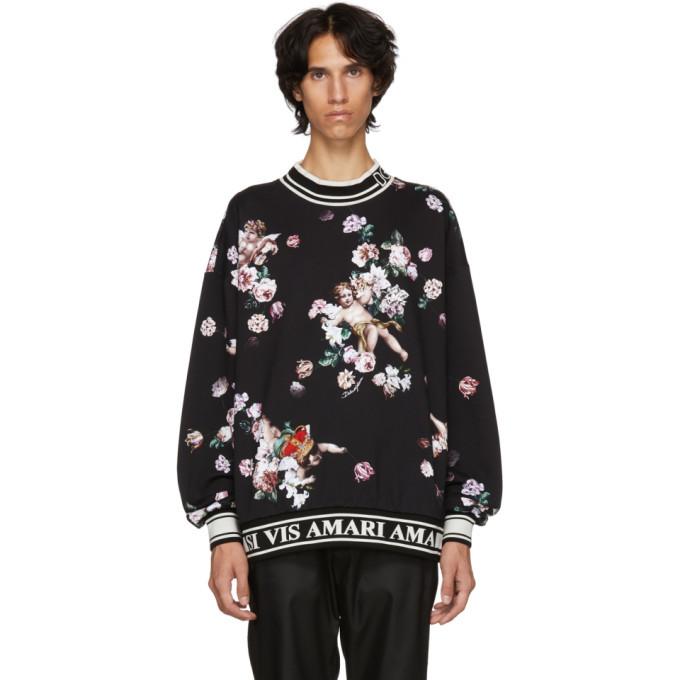 Photo: Dolce and Gabbana Black Flower Sweatshirt