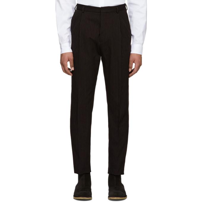 Bottega Veneta Black Striped Trousers