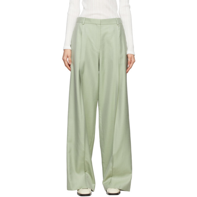 Photo: Nina Ricci Green Wool Trousers
