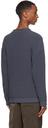 Giorgio Armani Blue Cotton Rib Half Fisherman's Sweater