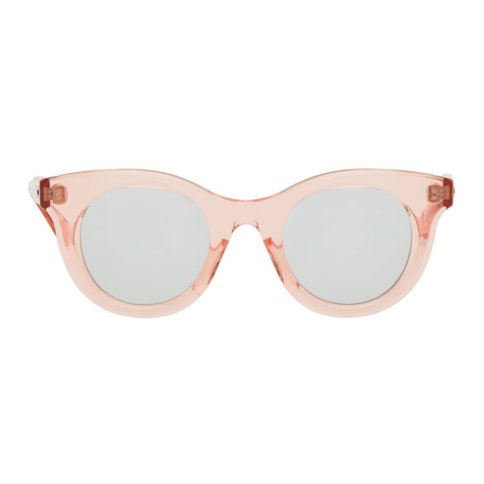 Photo: Sacai Pink Native Sons Edition Huxley Round Sunglasses