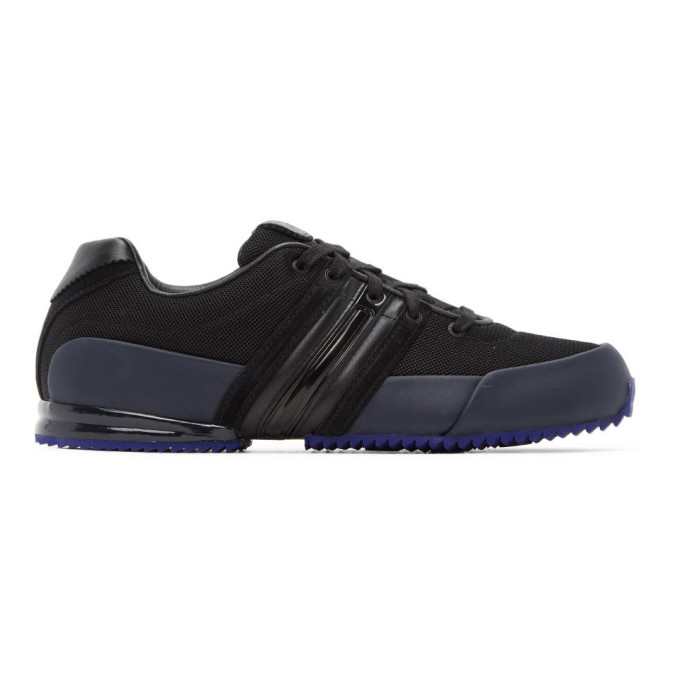 Photo: Y-3 Black and Navy Sprint Sneakers