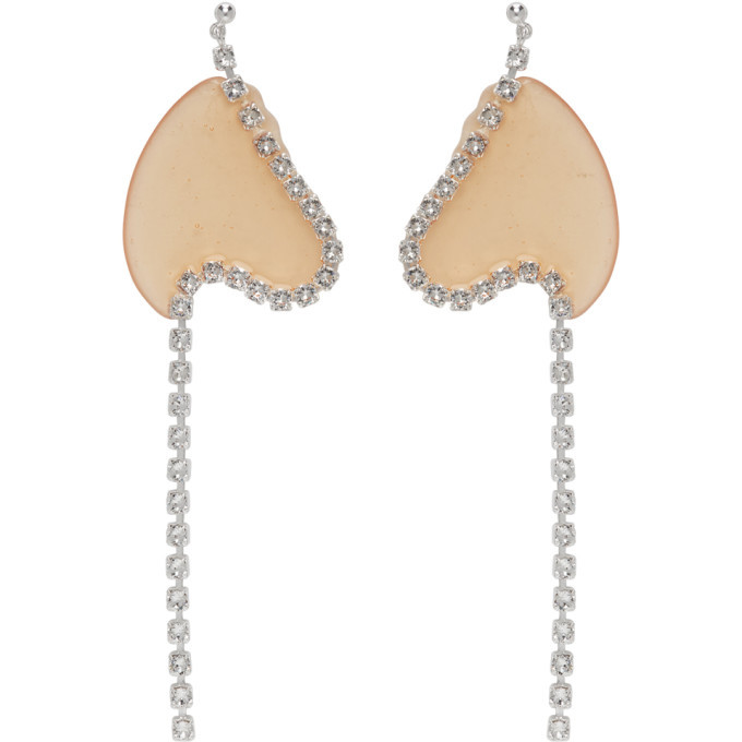 Photo: Vanessa Schindler Orange Strass Chain Earrings