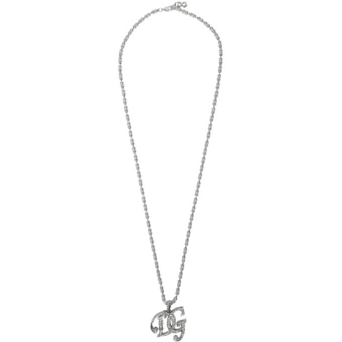 Photo: Dolce and Gabbana Silver Logo Necklace