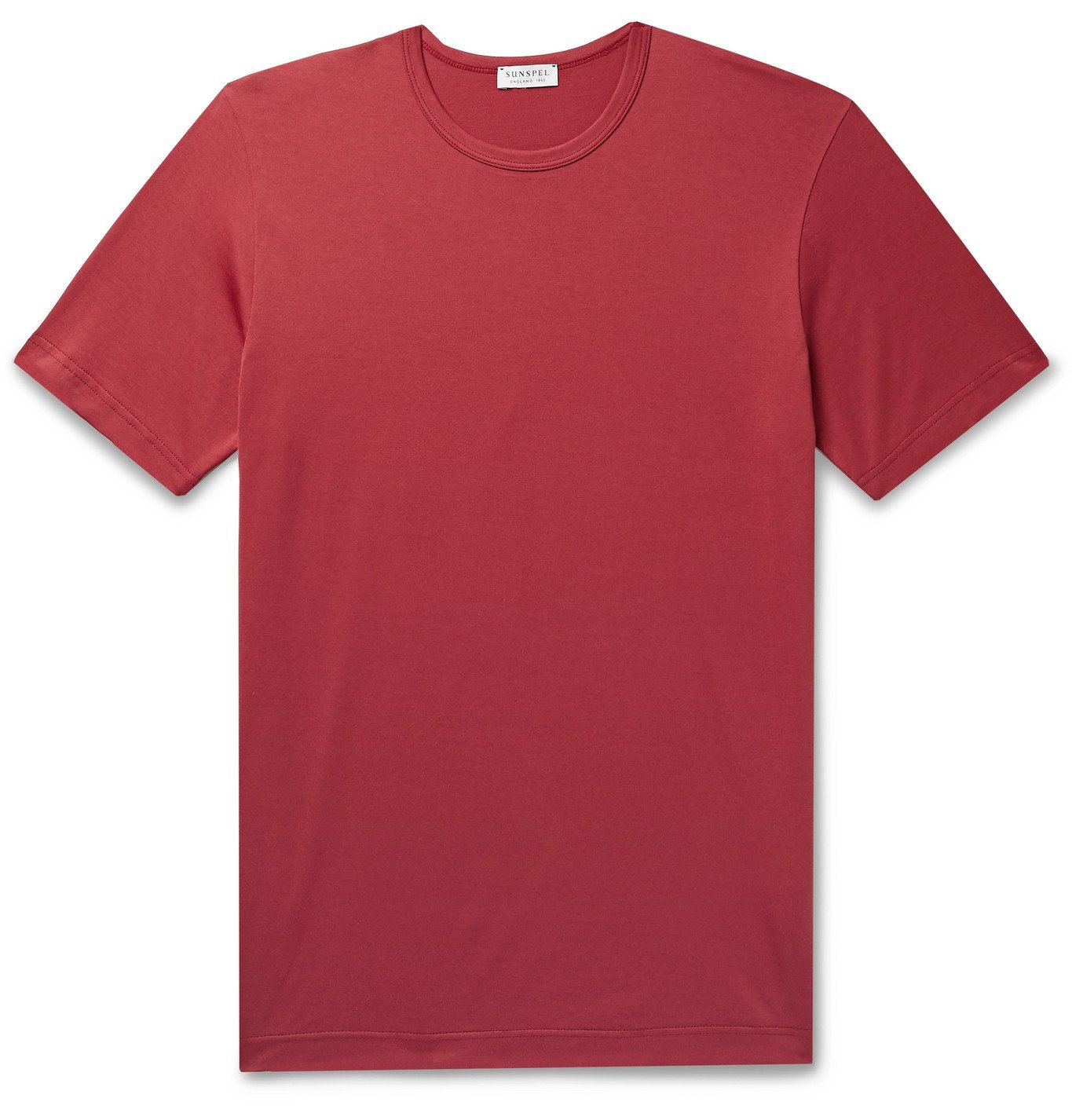 Photo: Sunspel - Slim-Fit Cotton-Jersey T-Shirt - Red