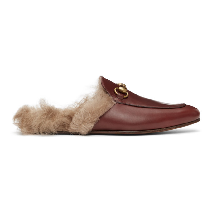 Photo: Gucci Burgundy Princetown Loafers