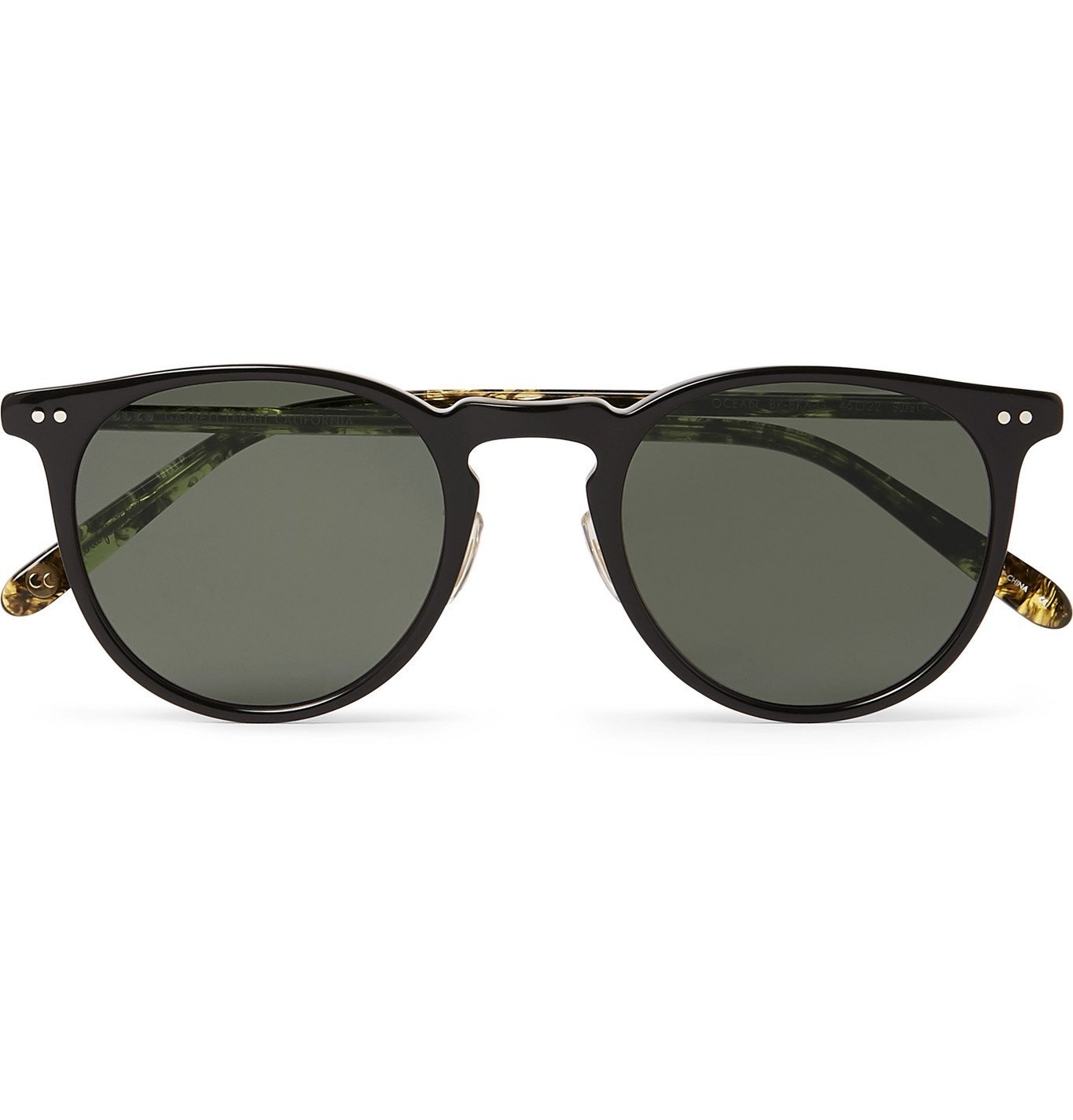 Photo: Garrett Leight California Optical - Ocean 46 Round-Frame Acetate Sunglasses - Black