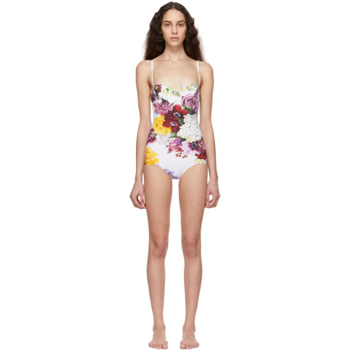 Photo: Dolce and Gabbana Multicolor Ortansia One-Piece Swimsuit