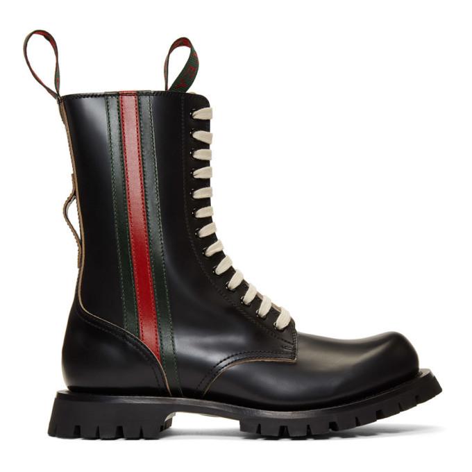 Photo: Gucci Black Arley Boots