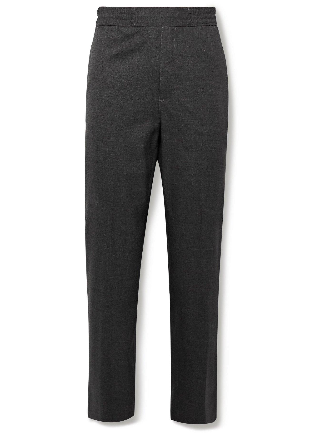Photo: ACNE STUDIOS - Pismo Mélange Wool Trousers - Gray