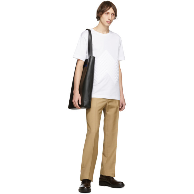 Bottega Veneta White Chevron Pressed T-Shirt