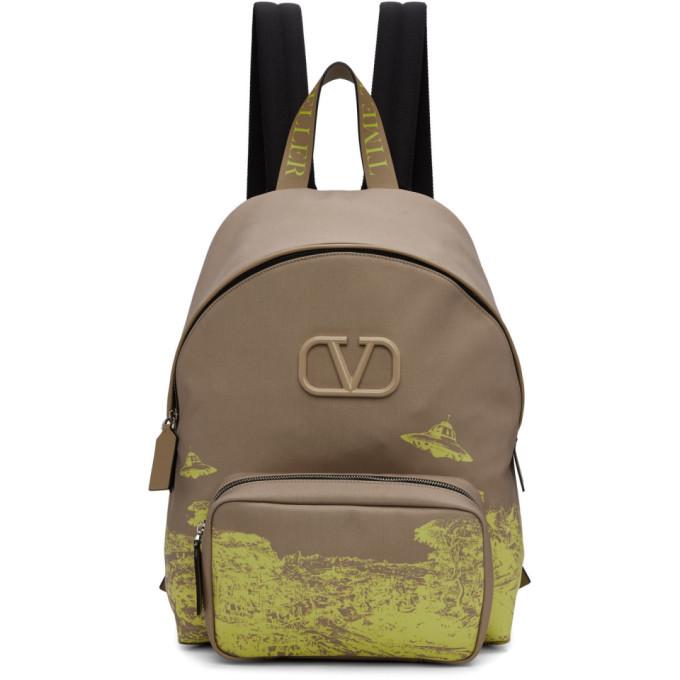 Photo: Valentino Beige Valentino Garavani Undercover Edition VLogo UFO Backpack