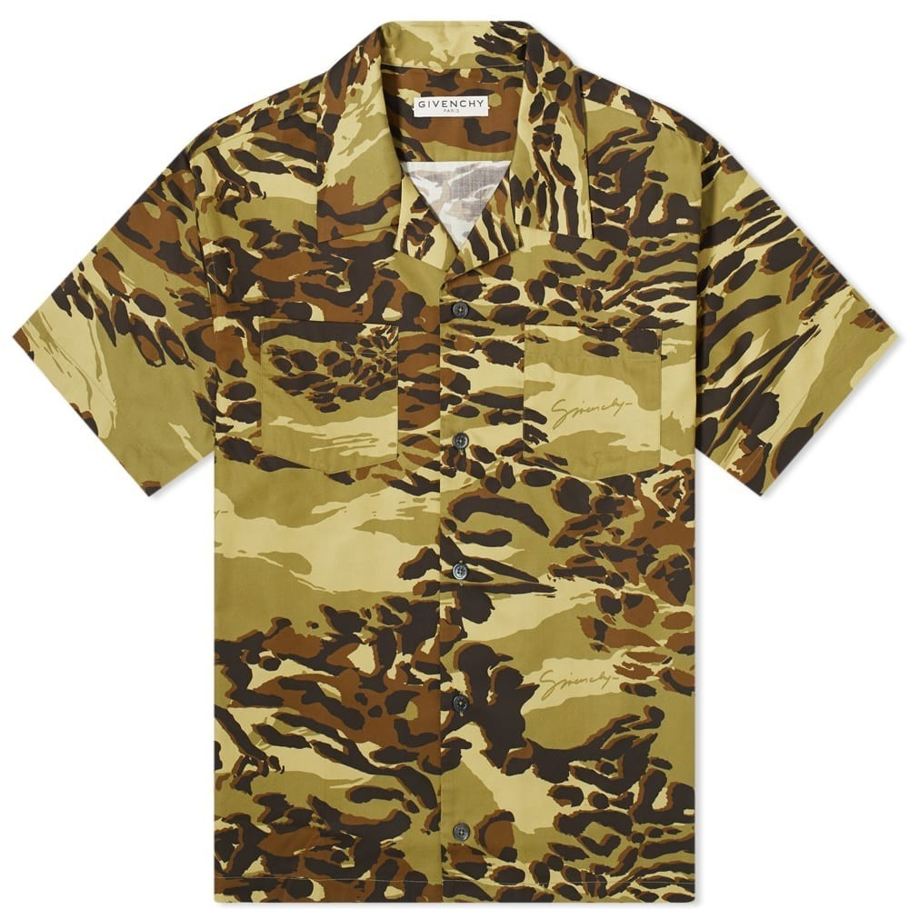 Photo: Givenchy Short Sleeve Cheetah Camo Hawaiian Shirt