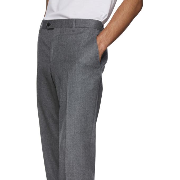 Salvatore Ferragamo Grey Tailored Trousers