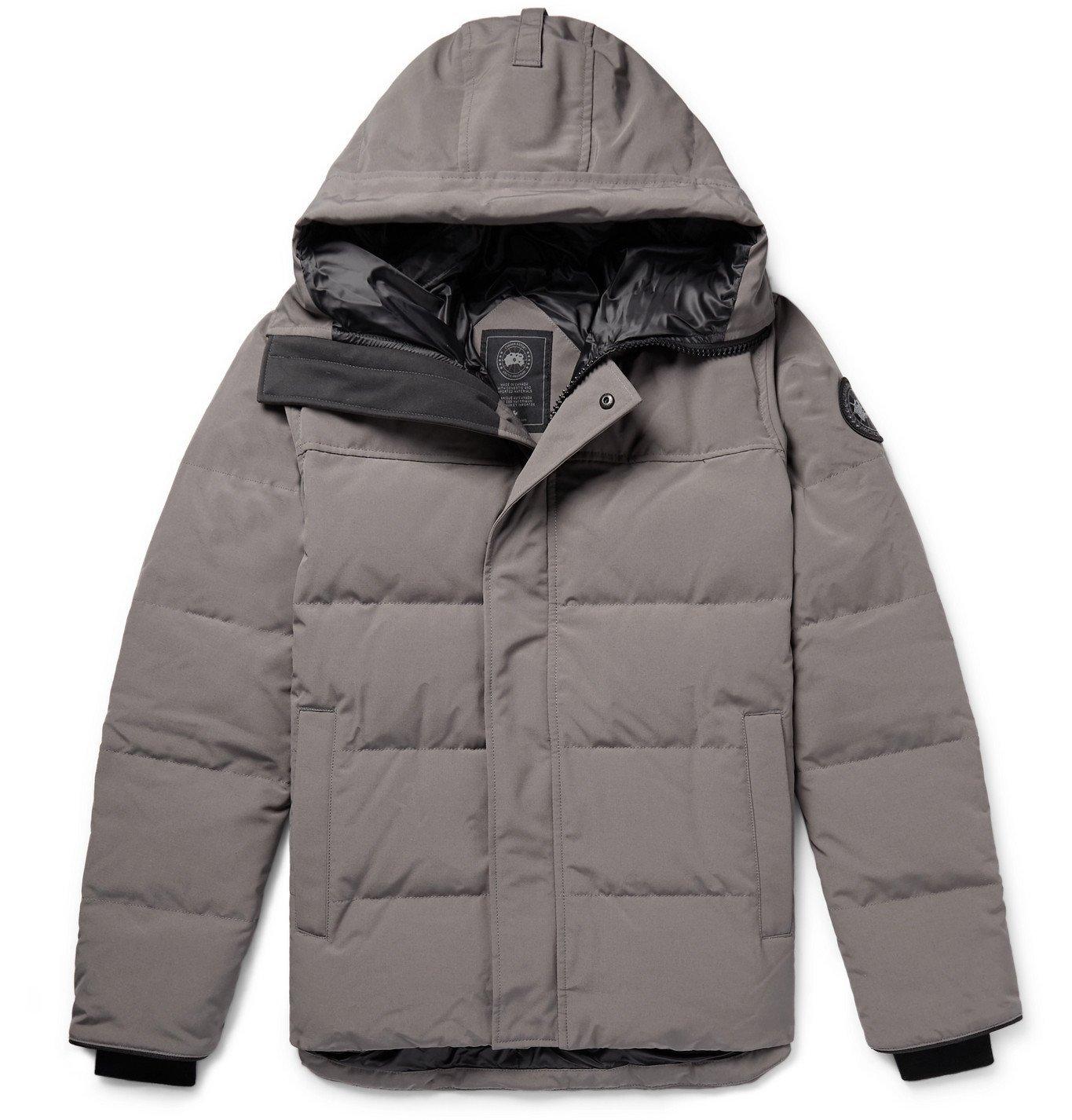 Photo: Canada Goose - MacMillan Quilted Arctic Tech Hooded Down Parka - Gray