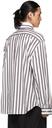 Raf Simons White Stripe Patched Boxy Shirt