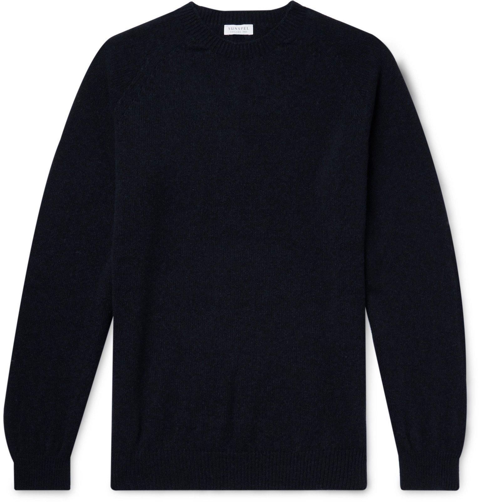 Photo: Sunspel - Wool Mock-Neck Sweater - Blue