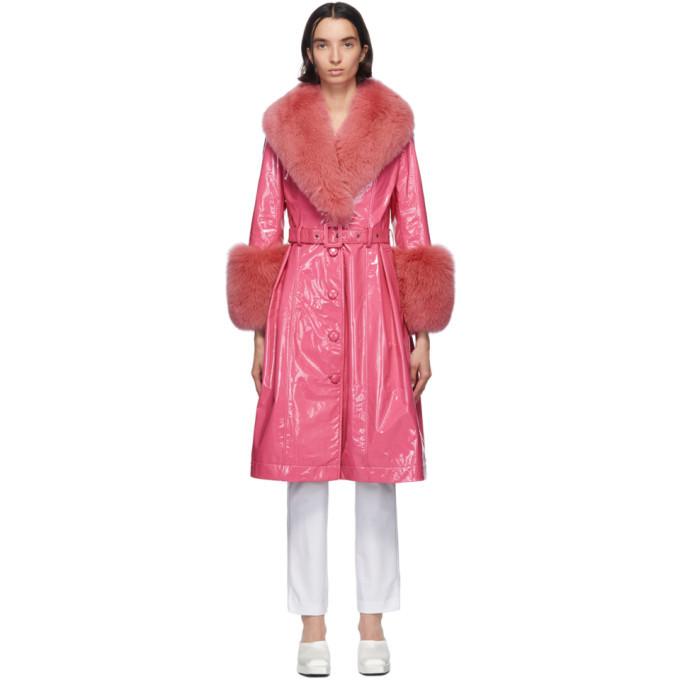 Photo: Saks Potts Pink Foxy Coat