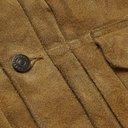 RRL - Leather-Trimmed Suede Jacket - Men - Brown