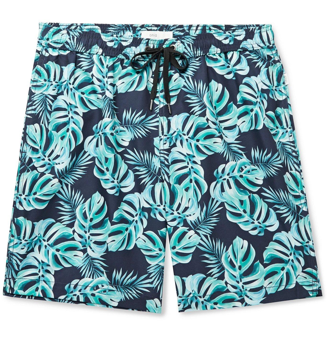 Photo: Onia - Charles Printed Swim Shorts - Blue