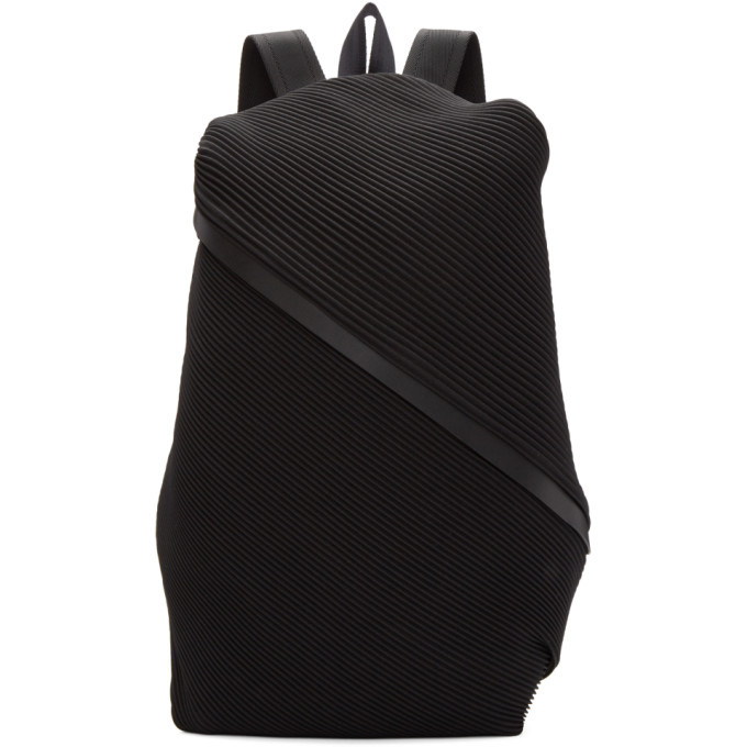 715bedcfa7 Pleats Please Issey Miyake Black June Bias Pleats Backpack Pleats ...