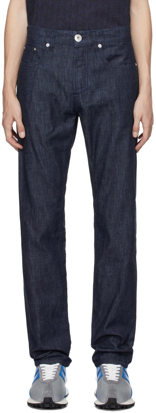 Photo: Lanvin Indigo Slim-Fit Jeans