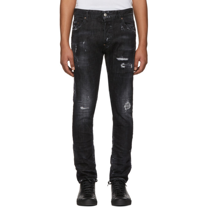 Photo: Dsquared2 Black Twin Peaks Skater Jeans