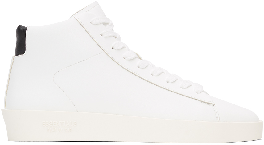 Photo: Essentials White Tennis Mid Sneakers