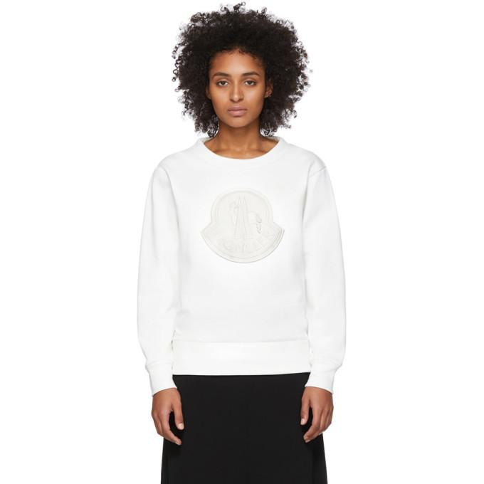 Photo: Moncler White Logo Sweatshirt