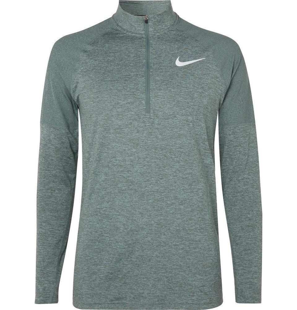Nike Running - Therma-Sphere Element Mélange Dri-FIT Half-Zip Top - Men - Teal