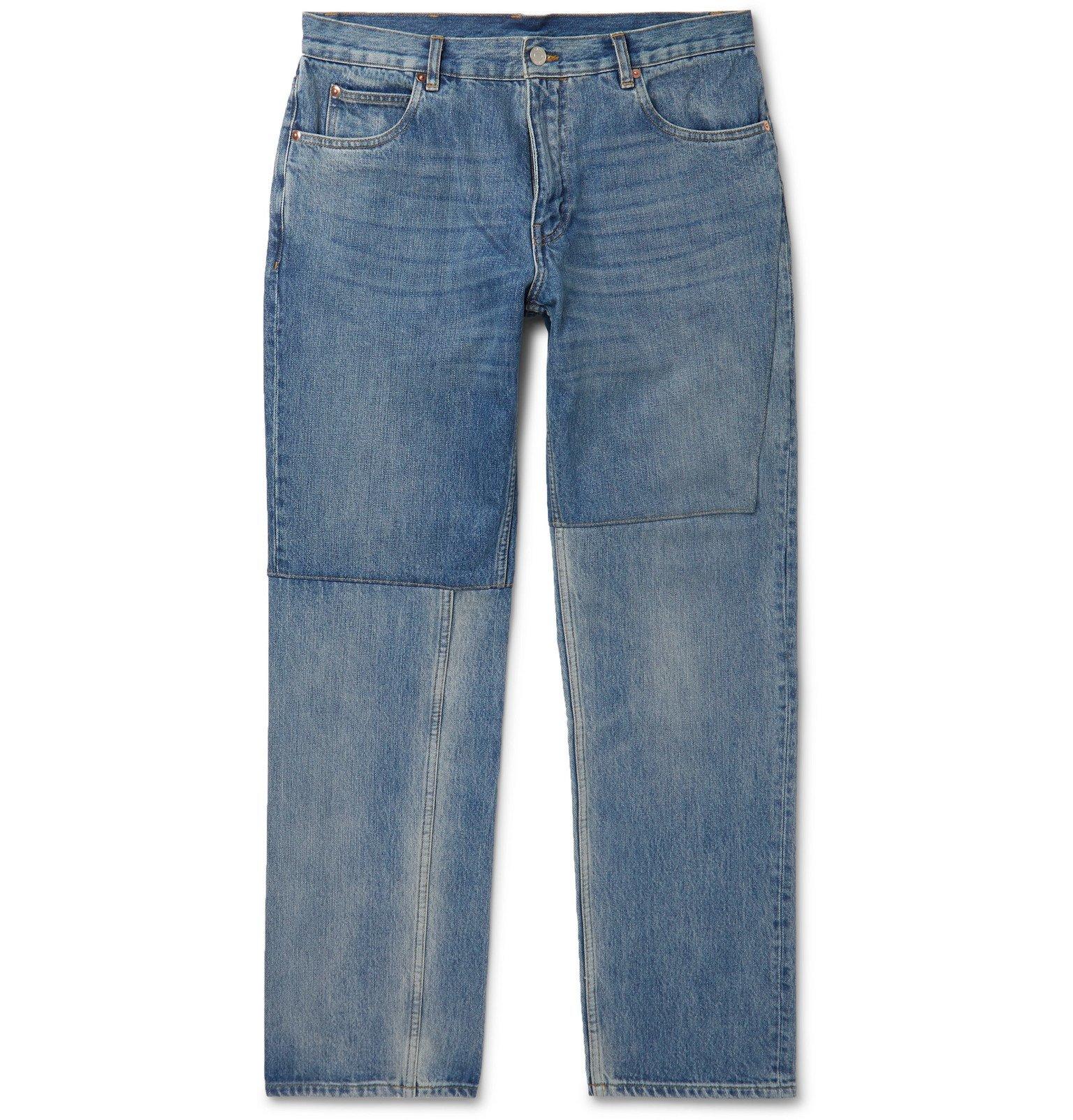 Martine Rose - Slim-Fit Panelled Denim Jeans - Blue